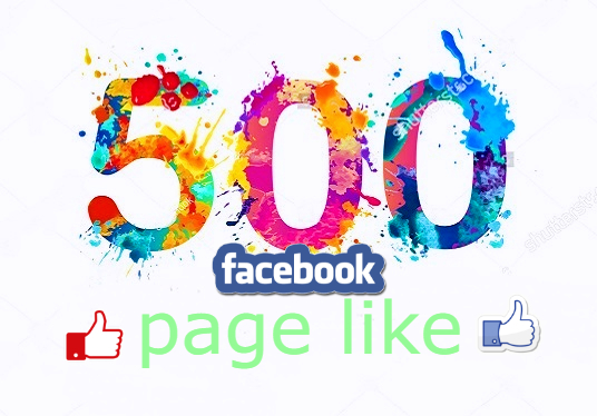 I will Give You 500 real likes on your facebook fan page