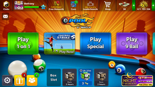 get you 5 Million on Miniclip pool
