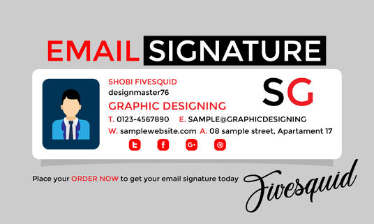 I will design Professional Email Signature