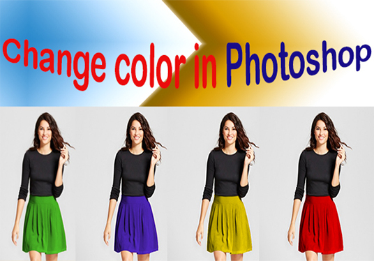 I will change color of anything in photoshop 25 images