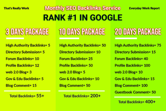 Boost Google Ranking With Manual Seo Backlinks, Monthly SEO service