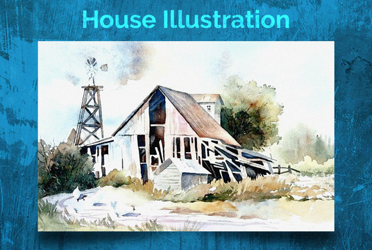 I will Illustrate your house in watercolor style