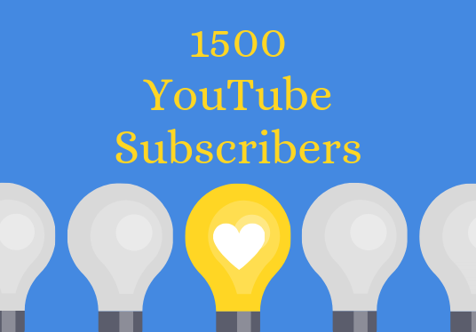 I will Provide 1500 YouTube Subscribers