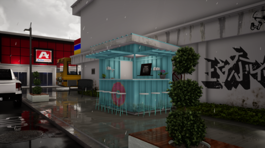 I will create design for your coffee shop and street food booth