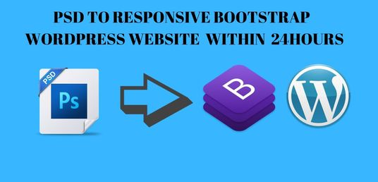 I will convert Psd to HTML responsive bootstrap in 24 hours