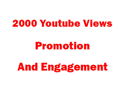 I will Provide 2000 YouTube Views And Engagement