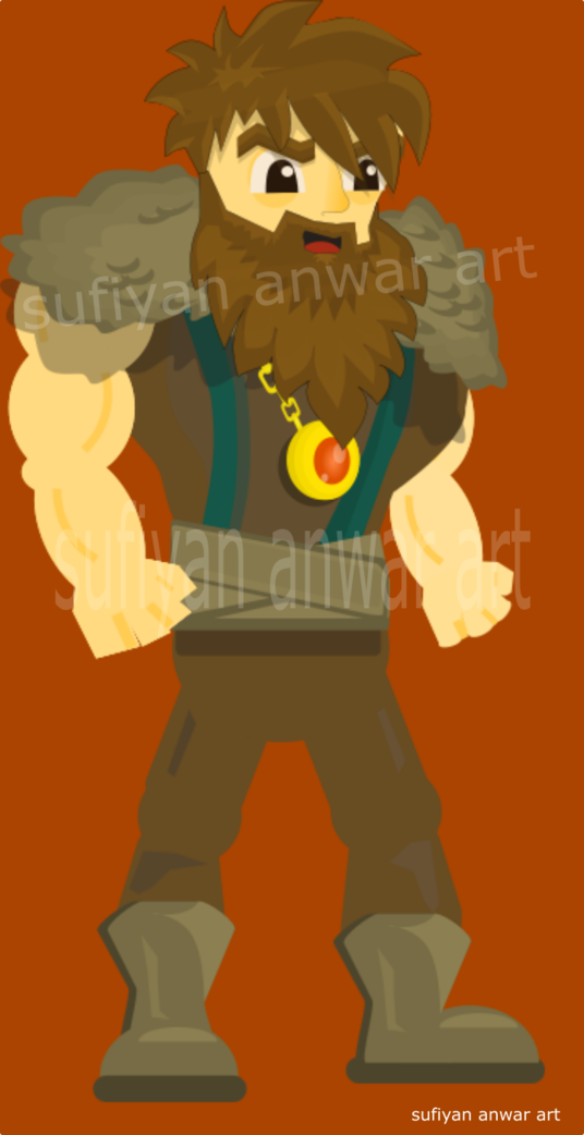 I will create a game character ready for cutout animation