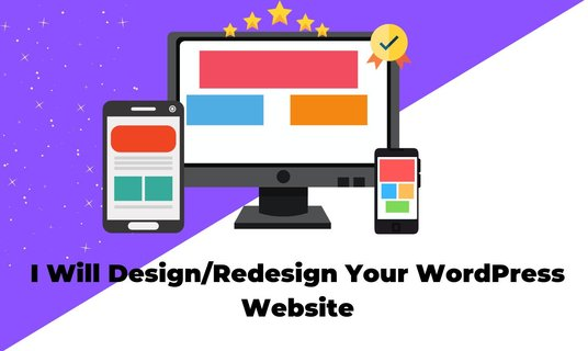 I will redesign your WordPress website