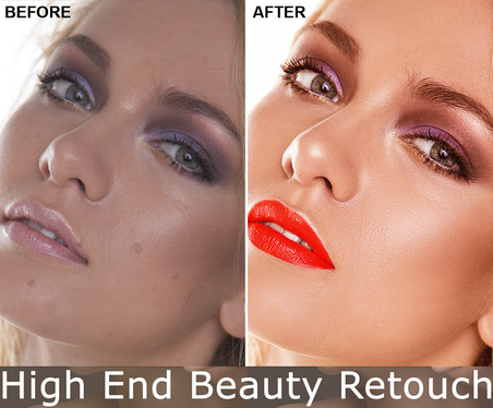 professionally retouch two Image