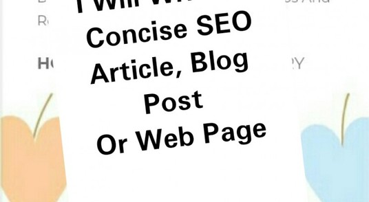 I will write a well written and researched article, blog post