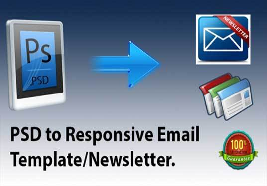 I will create html email template or newsletter for mailchimp