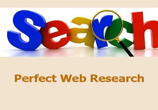 do web research for you