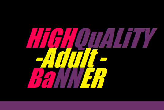 I will Design Adult Banner