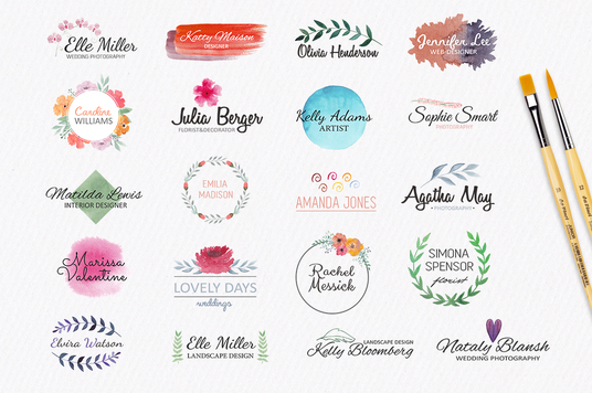 I will design beautiful watercolor logo