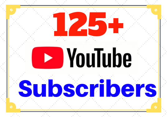 I will add 125+ Youtube Subscribers to your Channel