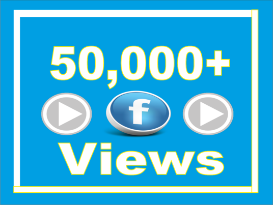 I will give Instant 50,000+ Facebook Video Views Best Quality & Non Drop