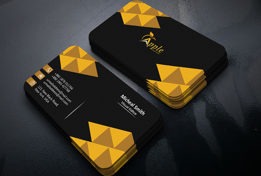 I will Created Professional Unique Modern Two Sided Business Card
