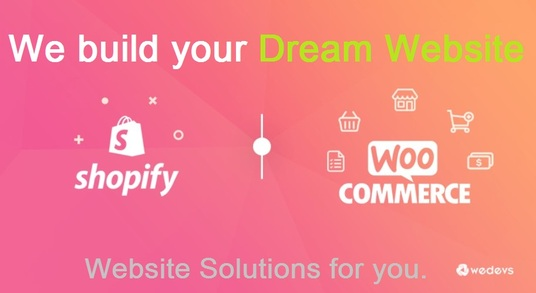 I will build WooCommerce Shopify, & multivendor Ecommerce Website