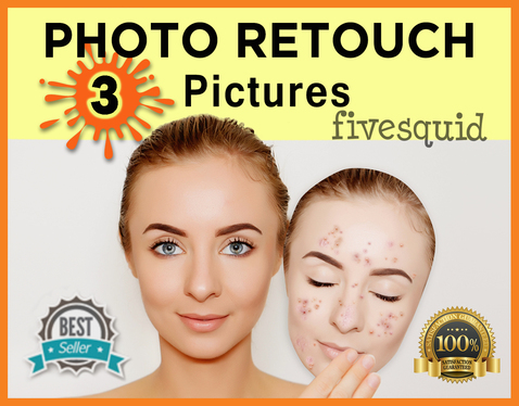 retouch 3 pictures professionally on Photoshop