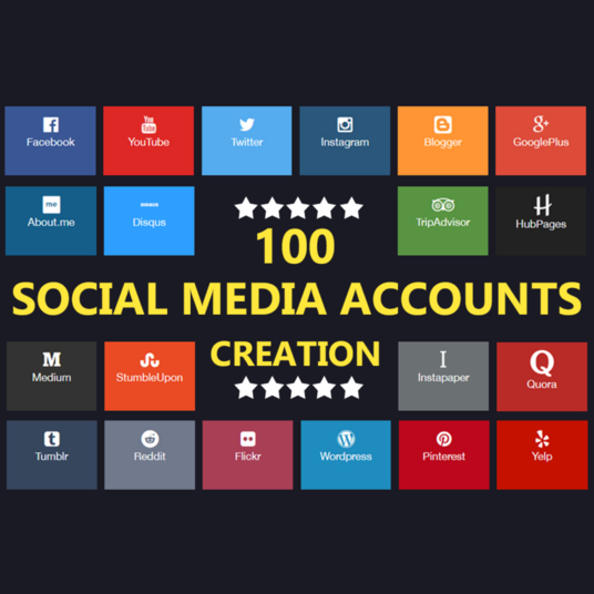 I will Create Top 100 Social Media Profile For Brand Creation