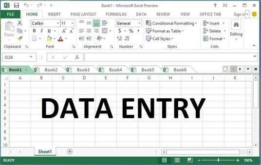 do excel data entry and web research