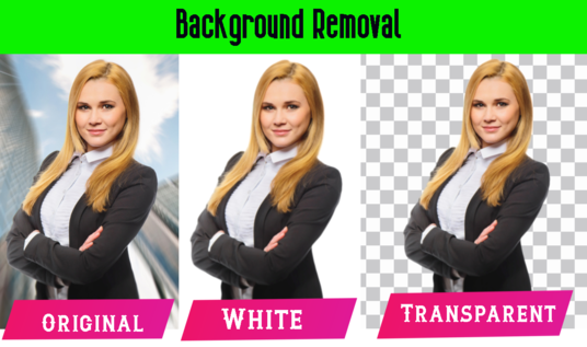 Remove Background of 100 image  Professionally