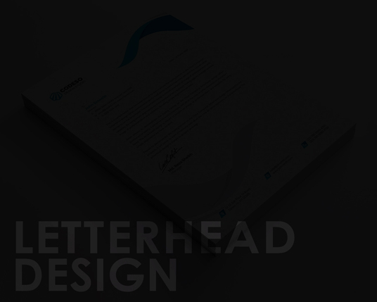 I will Letterhead Design