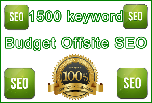 I will Target 1,500 keywords with Budget - Offsite Only SEO Setup with Powerful Software Tools