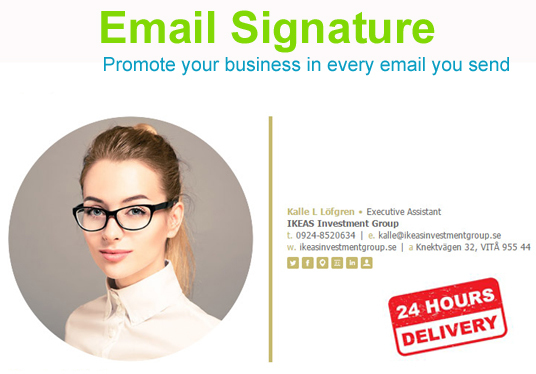 I will Create Professional Clickable Icon Email Signature