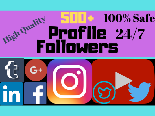 I will Provide You Genuine 500+ Facebook Followers or 500+ Twitter Followers or 500+ Instagram Fo