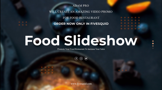 create video food slideshow for your restaurant in 24 hours
