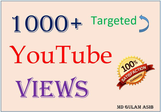 I will deliver 1000+ Targeted YouTube views