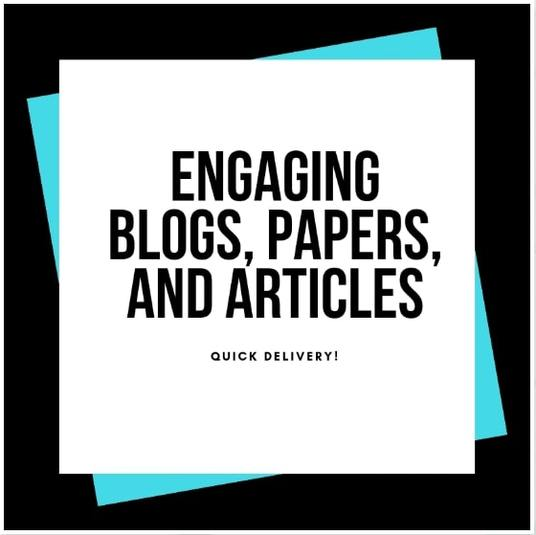 I will research and write an article or blog