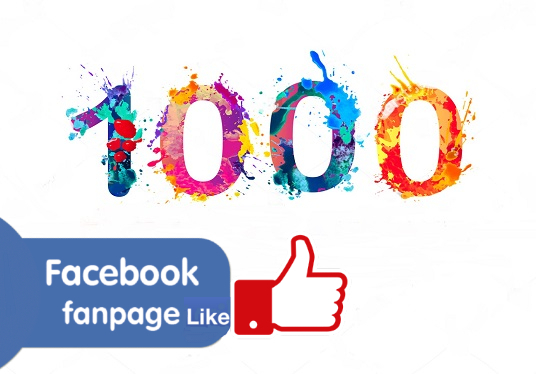 Give You 1000 real likes on your facebook fan page