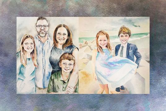 illustrate family or couple portrait