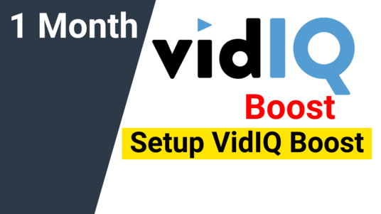I will Setup YouTube VidIQ Boost For 1 Month