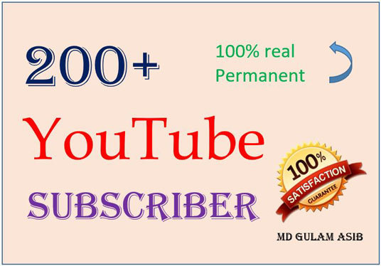 I will provide you 200+ real active YouTube subscribers safe and permanent