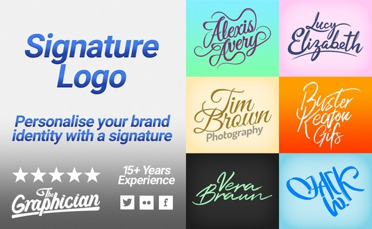 I will design you a simple signature