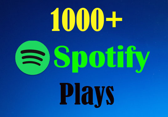 I will Provide  1000+ Real Spotify Plays