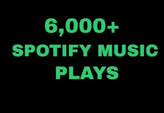 I will Provide 6,000+ Spotify Music plays