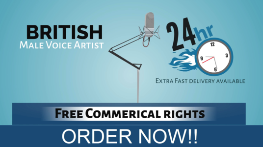 Record 150 words in British Male Voice  with free commercial rights