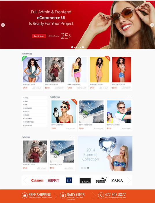 I will design eCommerce Web & App