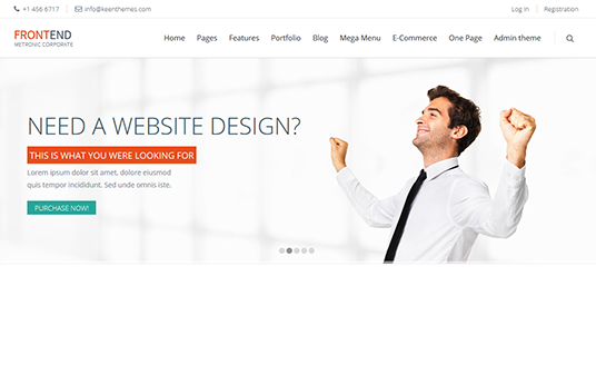design a beautiful website banner