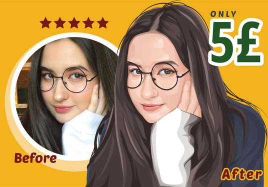 I will Create Perfect Vector Portrait Photo