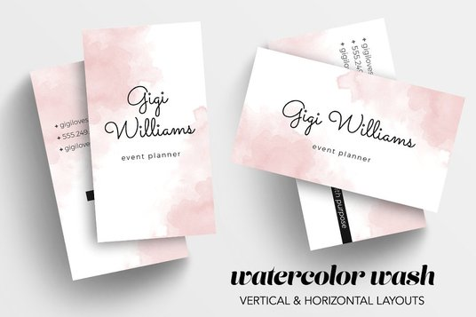 I will design watercolor business card