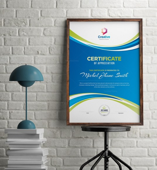I will design Professional Certificate