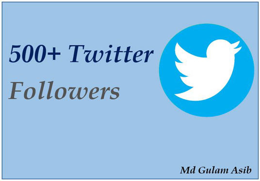 I will give you 500+ Twitter followers