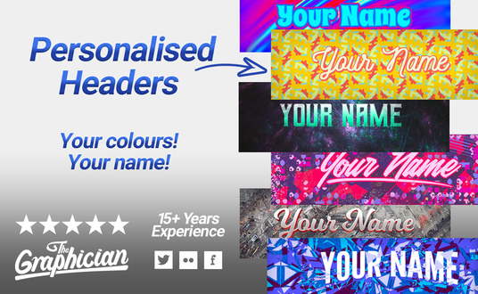 personalise a header template with your name
