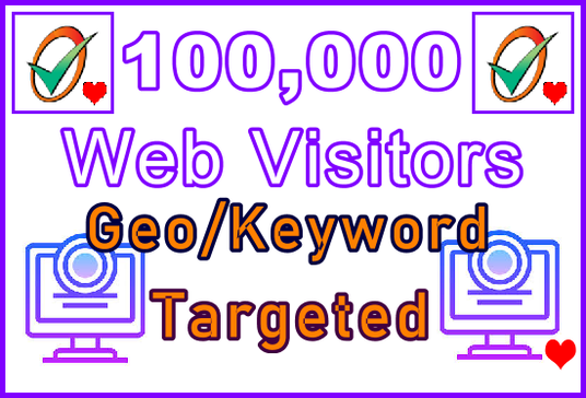 I will Send 100,000 Organic Visitors | Worlwide or Geo-targeted | Keyword Targeted | Low-Bounce