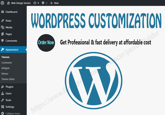 I will do WordPress Website Design, Redesign and WordPress Customization With Any WordPress Theme
